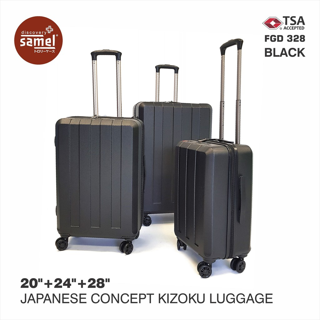 3 IN 1 SET FGD 328 JAPANESE CONCEPT KIZOKU LUGGAGE 20'' 24'' 28''