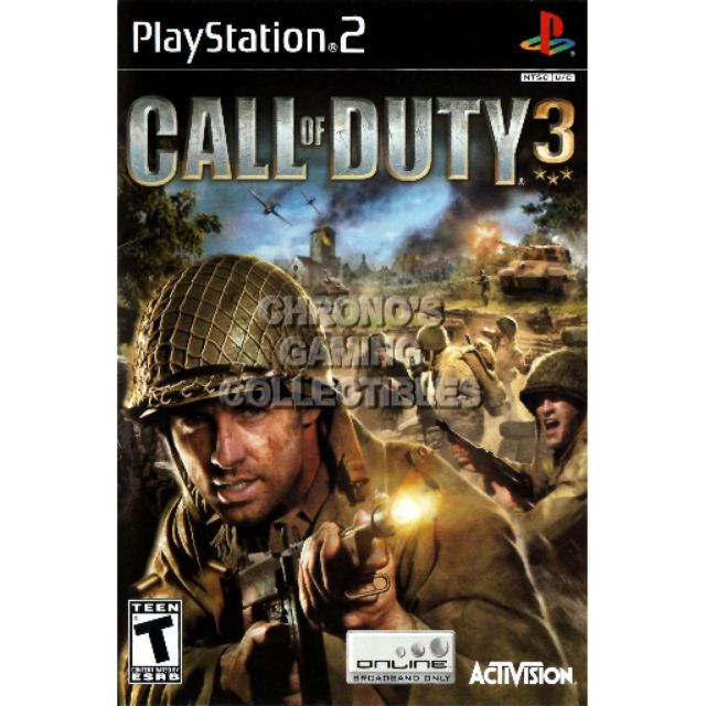 PS2 Games CD Collection Call Of Duty 3