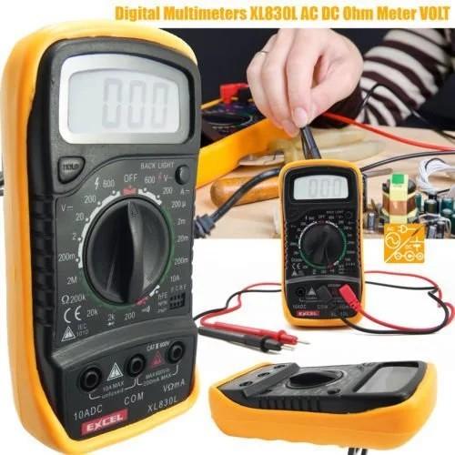 มัลติมิเตอร์แบบดิจิตอล XL830L เครื่องวัดกระแสไฟ AC DC OHM เครื่องทดสอบแรงดัน