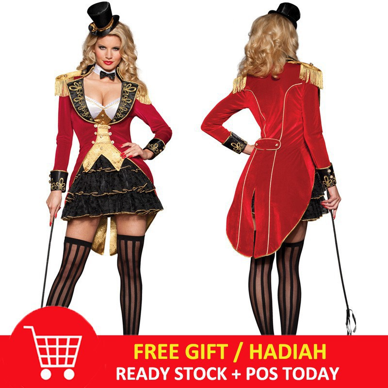 Halloween Clown Girl Outfit.Halloween Cosplay Costume Female Adult Circus Clothes Women Clown Girl Dress