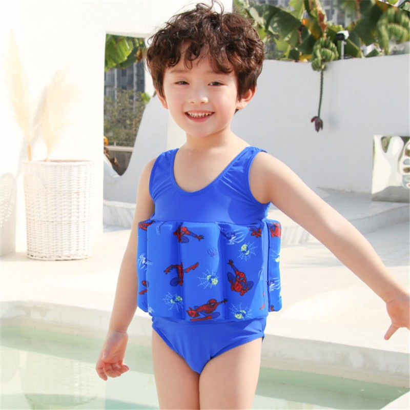 Kid Girl Boy Cartoon Swim Suit Costume Swimmingcap Short Sleeves Zipper Swimwear