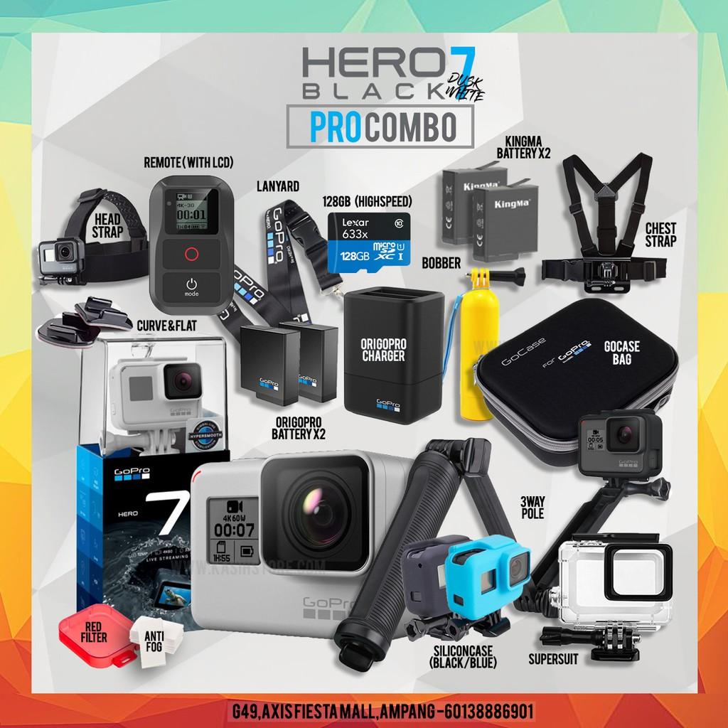 🔥9 9 🔥GOPRO HERO7 BLACK / HERO 7 BLACK @ DUSK WHITE NEW LIMITED EDITION
