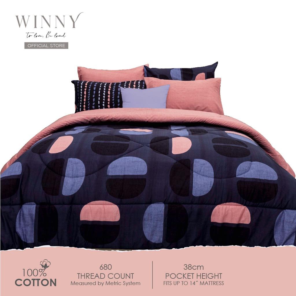 Winny Enliven Comforter Set-680 TC (SUPER SINGLE/ QUEEN/ KING)-COTTON