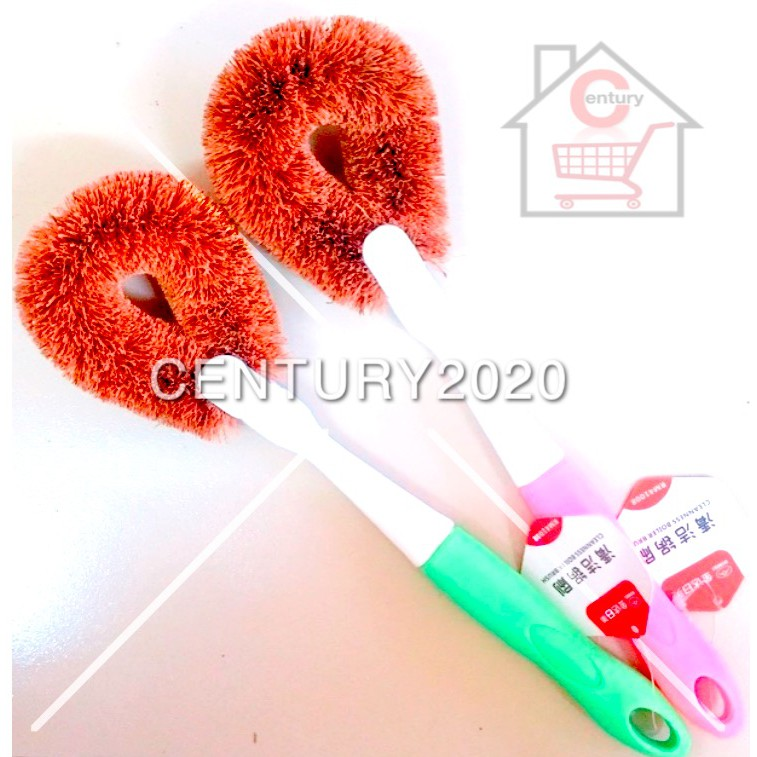 RIMEI Coconut Palm Brush Non Stick Oil Pot Brush Plastic Handle Coconut Palm Pan Brushes Household Kitchen Cleaning Tool
