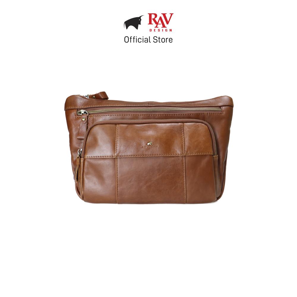 RAV DESIGN Men's Genuine Leather Sling Bag |RVC483G1