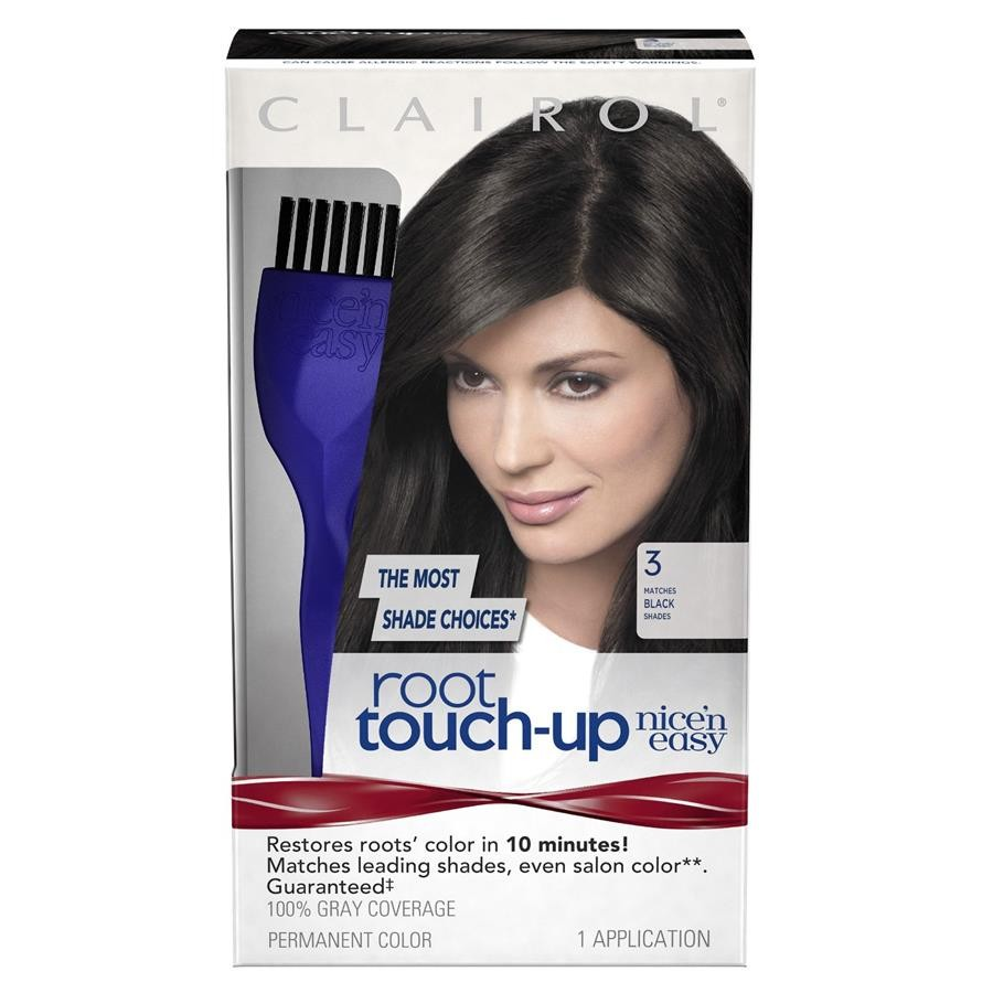 Clairol Nice N Easy Root Touch Up 003 Black Hair Color Shopee