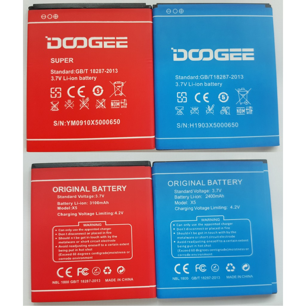Original DOOGEE X5 X5 Pro 2400mAh 3100mAh Battery