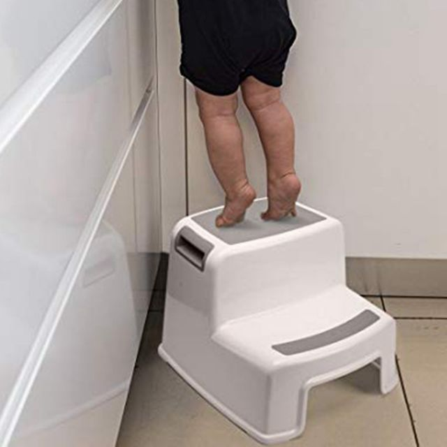 LFY 2 Step Stool for Kids Slip Resistant Soft Grip Toddler Stool for Toilet Potty Training