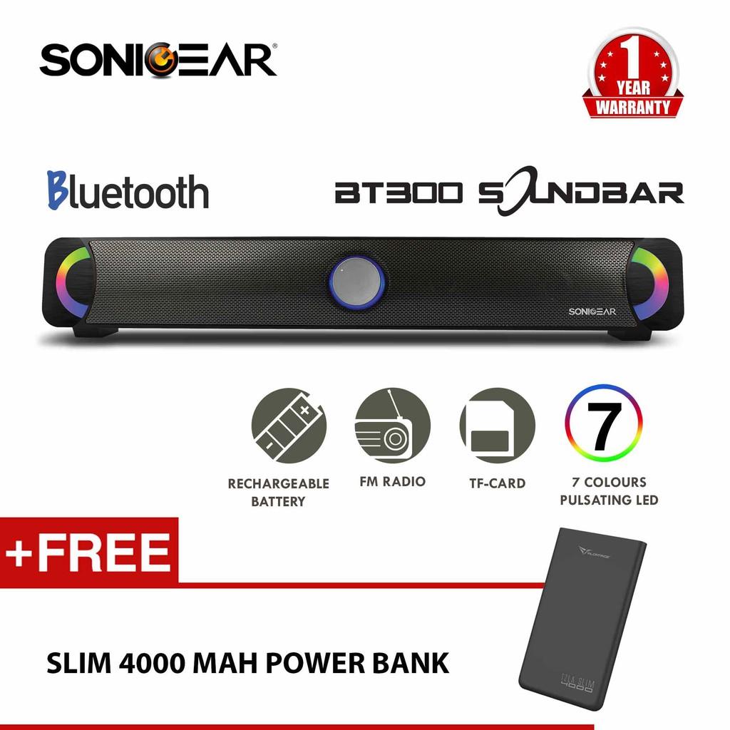 Sonicgear 3000 Btmi Bluetooth Soundbar With Radio Usb Tf Card Sonic Gear Evo 9 Memory Fm Free Earphones Shopee Malaysia