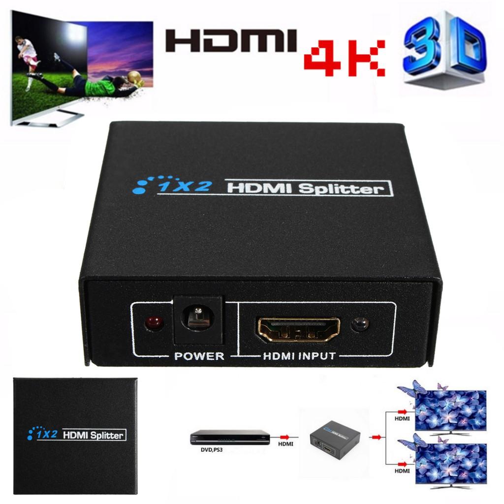 2 Output 1 Input Hdmi Splitter Amplifier Way Switch Box Hub 1x2 Scart Hdtv Ps3 1080p Shopee Malaysia