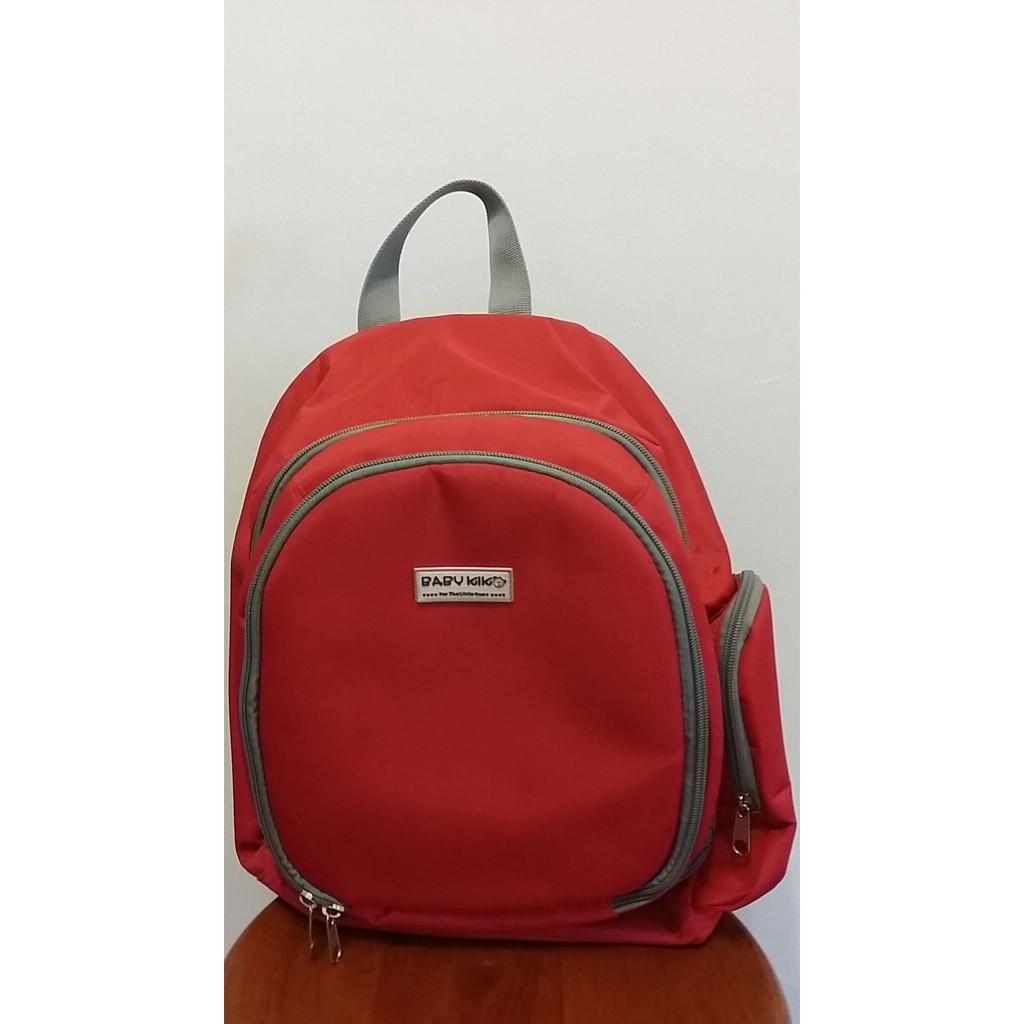 Baby Kiko Mama Backpack Bag (Red)