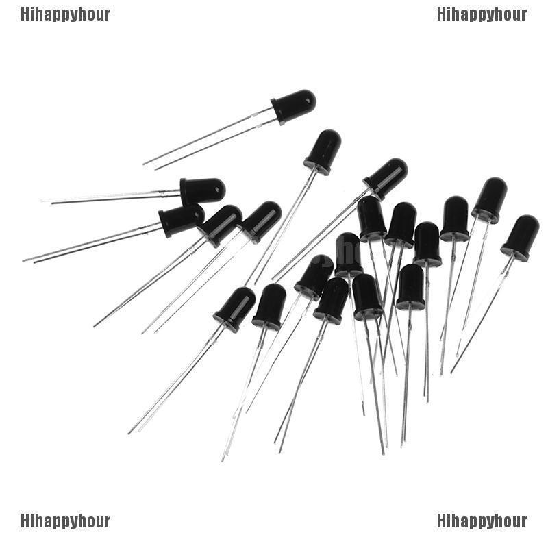 20Pcs 5mm 940nm IR detector sensor Infrared phototransistor black//whiteSN