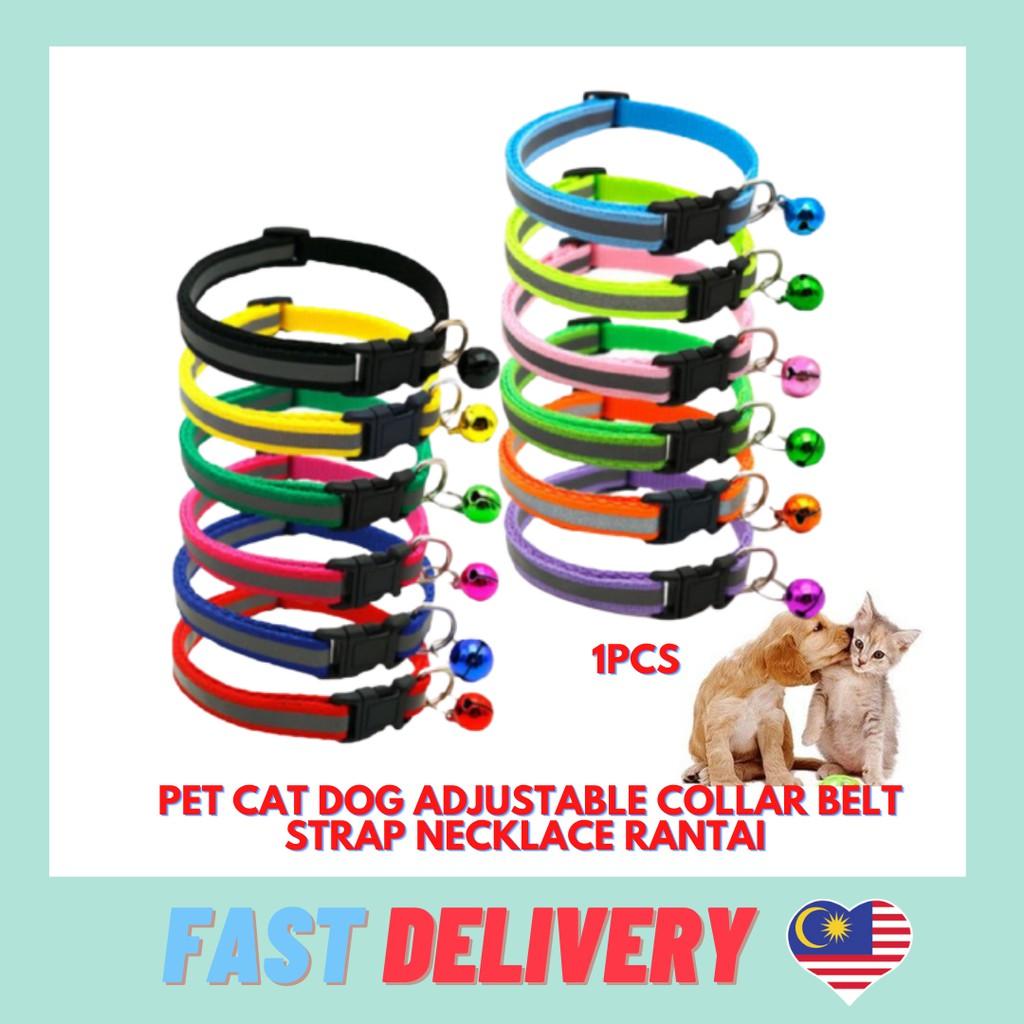Pet Cat Dog adjustable collar belt strap necklace RANTAI KUCING boleh laras
