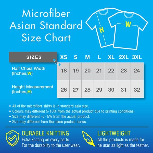 Microfiber Round Neck Unisex Premium T-Shirt (White/Black)