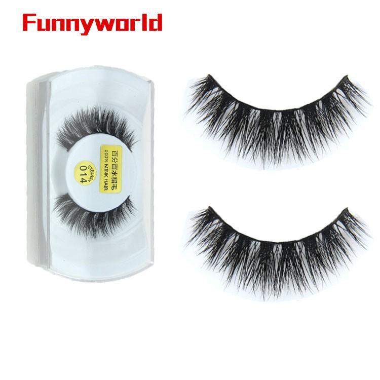 8aea46a10ef ❤3D Real Mink Fur Natural Thick False Fake Eyelashes Eye Makeup Extension  Lashes