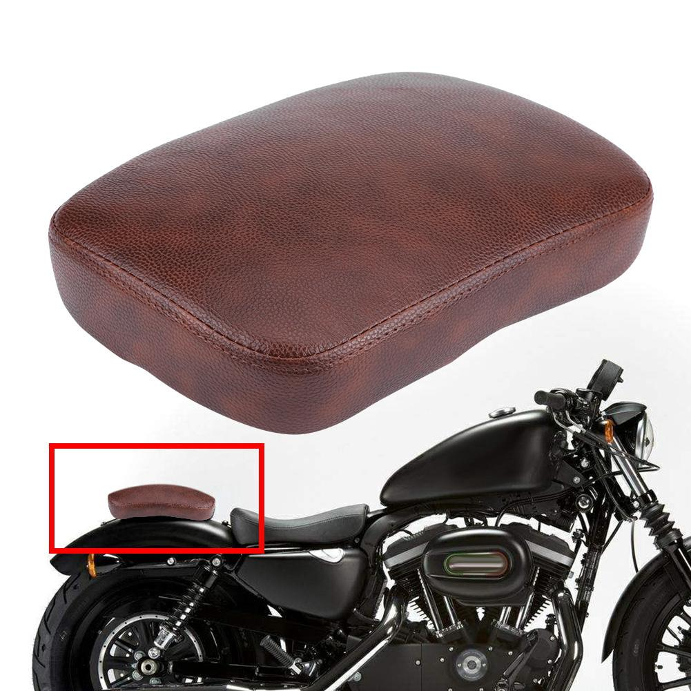 Brown Rear Passenger Pillion Pad Seat 8 Suction Cups for Harley Cruiser Bobber