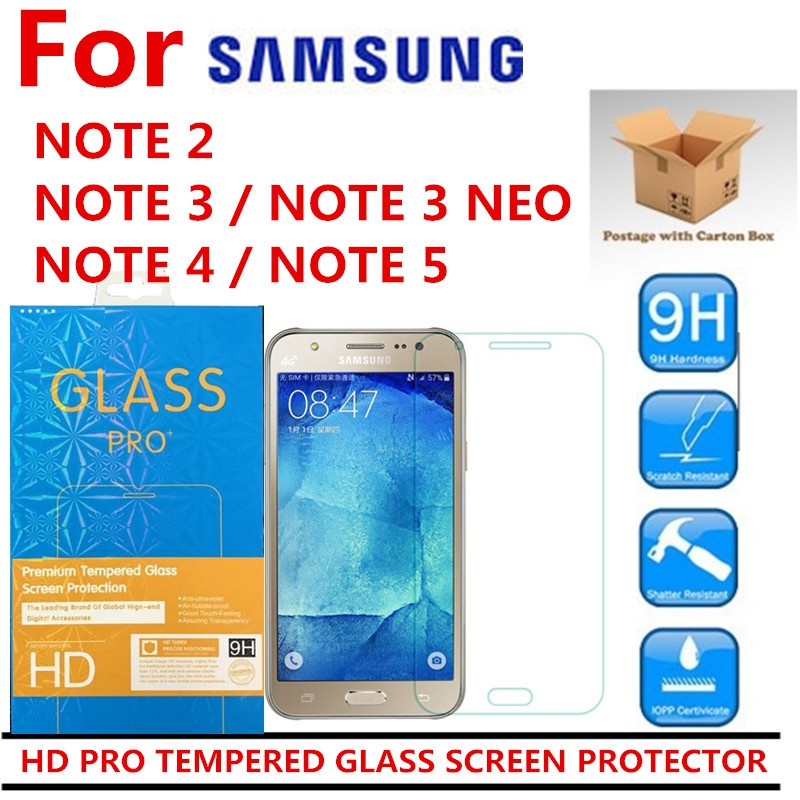 SAMSUNG GALAXY NOTE 2 NOTE 3 NEO NOTE 4 NOTE 5 TEMPERED GLASS SCREEN PROTECTOR   Shopee Malaysia