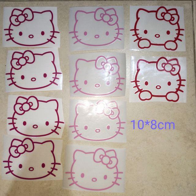 🆕💯👍waterproof HELLO KITTY (10*8cm)/18*15cm / sticker glass /mirror/wall pink/red/dark pink