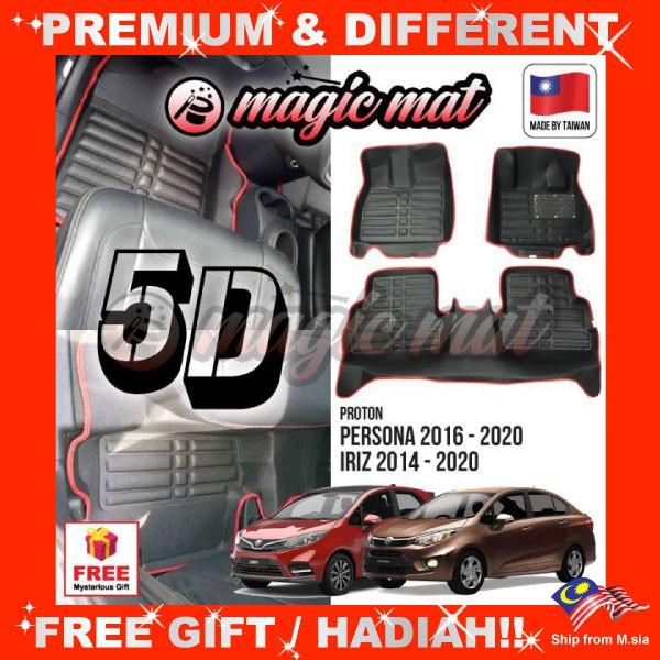 [FREE GIFT Gift] PROTON IRIZ / PERSONA VVT 2016- 2020 (5-Seater) MAGIC MAT 5D OEM Car Floor Mat Easy Clean Carpet