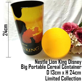 Nestle Lion King Disney Big Portable Cereal Container