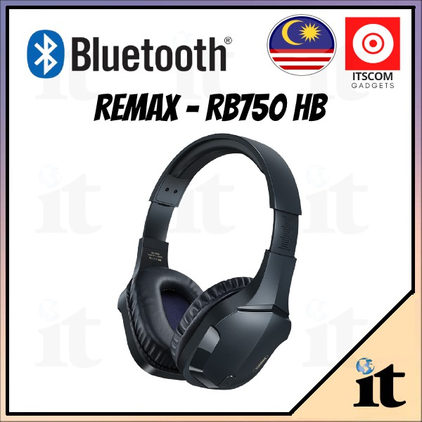 Remax RB-750HB wireless gaming headset professional listening position, open black 0 obstacles, born for gaming