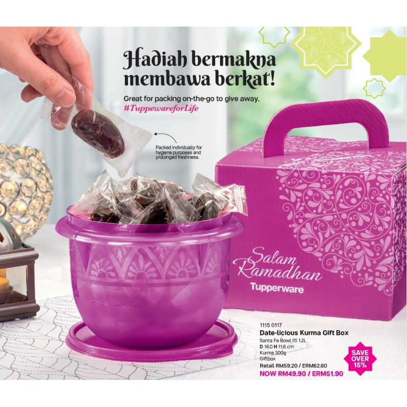 Tupperware : Kurma Gift Set (Ready Stock+ FREE RAYA PACKET)