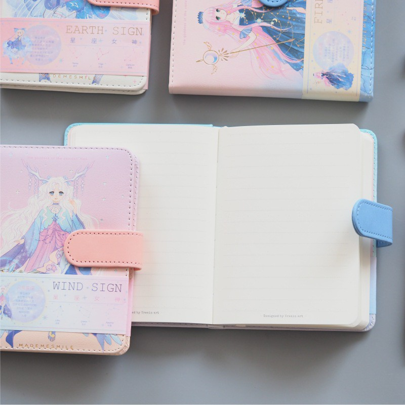 Girls Fairy Horoscope Cute Stationery Schedule Book Study Working Notebook Diary Planner Book 2021