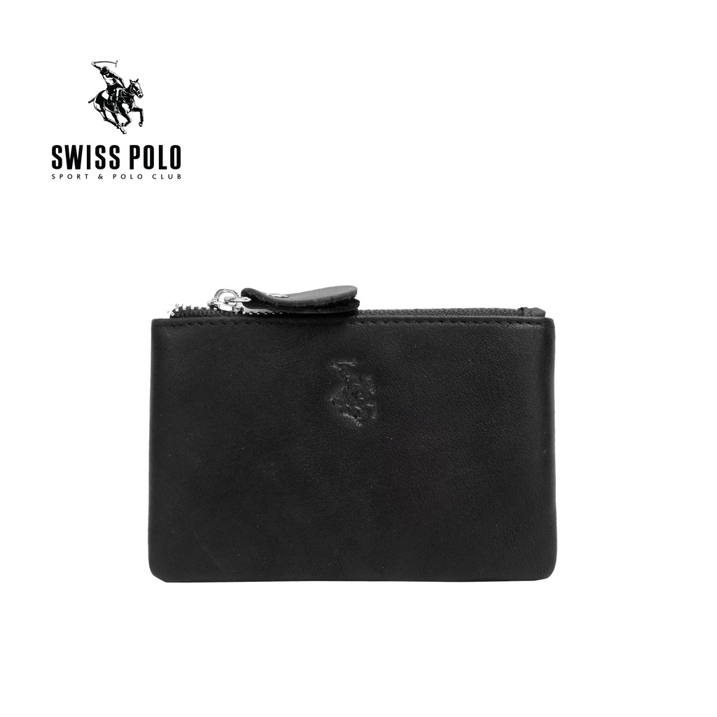 SWISS POLO GENUINE LEATHER CARD HOLDER SW 140-3 BLACK