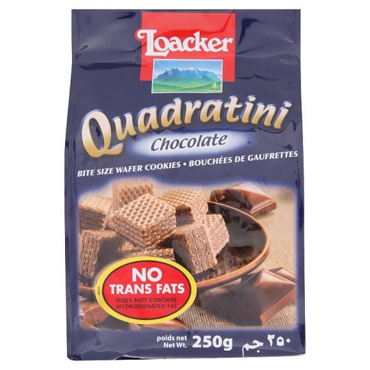 Loacker Quadratini Chocolate Bite Size Wafer Cookies 250g