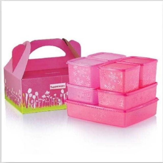 Tupperware snowflake set ( loose set) pink