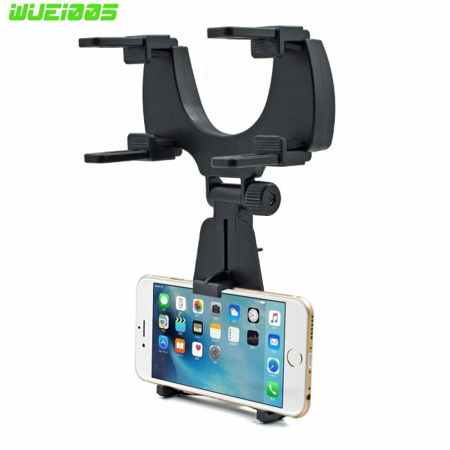 Sun Visor Car Cell Phone Holder Black Universal 360 Rotating Car Mount Support Clip Bracket Compatible for iPhone Xs//Xs Max//Xr//X//8//7//6 Samsung Note 9//8//5 Galaxy S9//S8//S7//S6 Moto Z3 Smartphones GPS