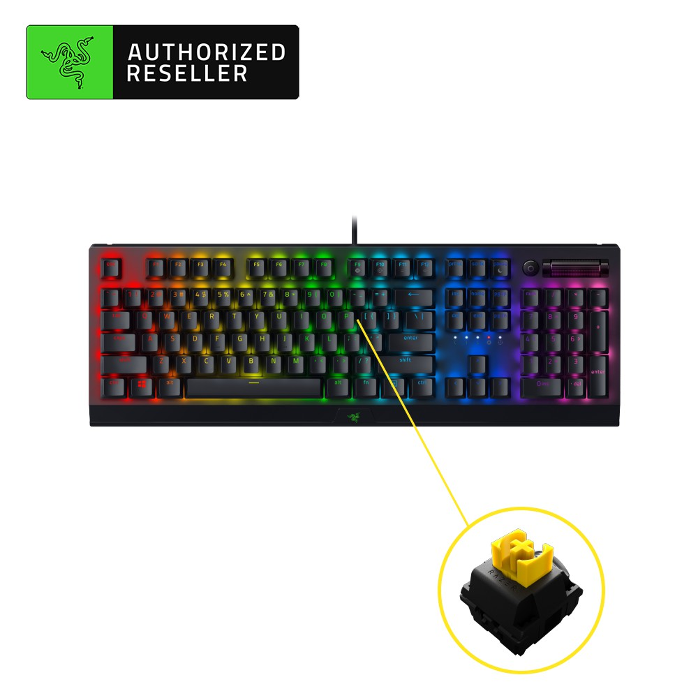 Razer BlackWidow V3 Mechanical Gaming Keyboard with Razer Chroma RGB