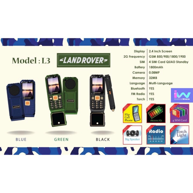 Land Rover L3 support 4 SIM STANDBY!