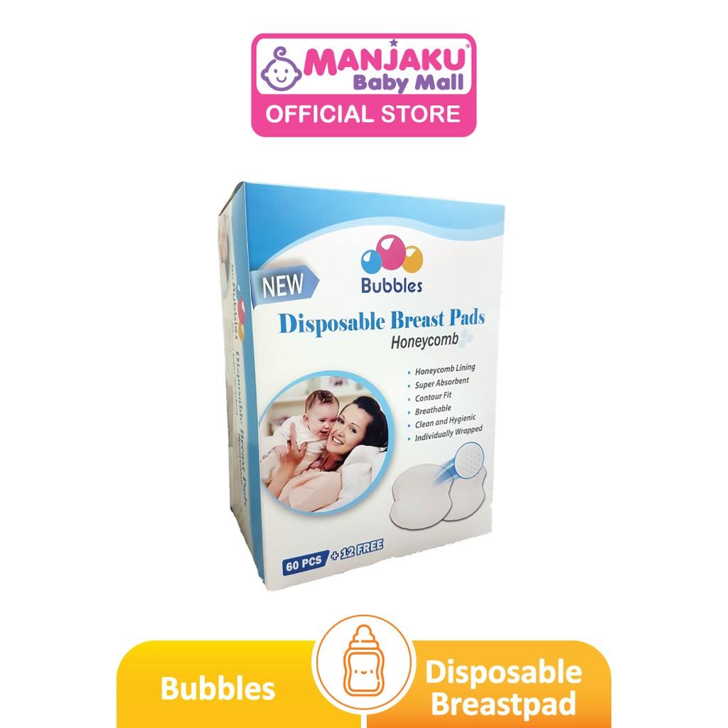 Bubbles Disposable Breastpads - Honeycomb (60 + 12 Pcs)