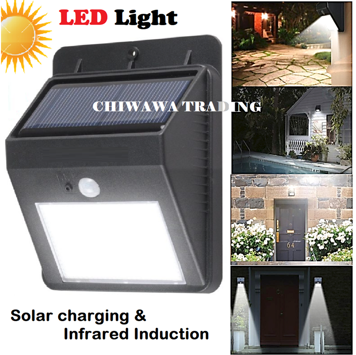 Super Bright - Solar Lights Motion Activated Light Sensor Security Auto On Outdoor Stick Up LED Lamp