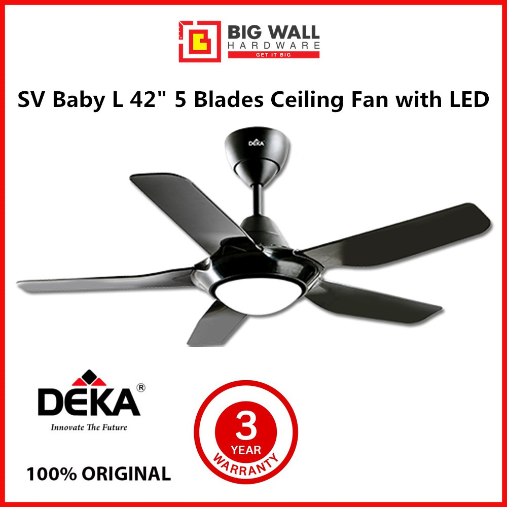 Deka SV Baby L 42  5 Blades Ceiling Fan With LED, Timer and 4 Speeds Remote Control *Kipas Siling