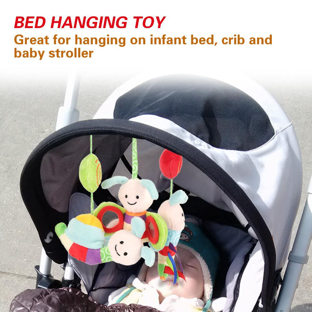 Infant Baby Kids Spiral Bee Insect Hanging Toy with Music//Sound for Crib Bed Stroller Pushchair Crib Toys Attachments