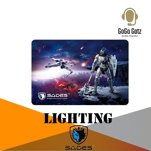 {SD-LIGHTNING-BLACK} Sades Lightning Hard Gaming Mouse Pad (Black)