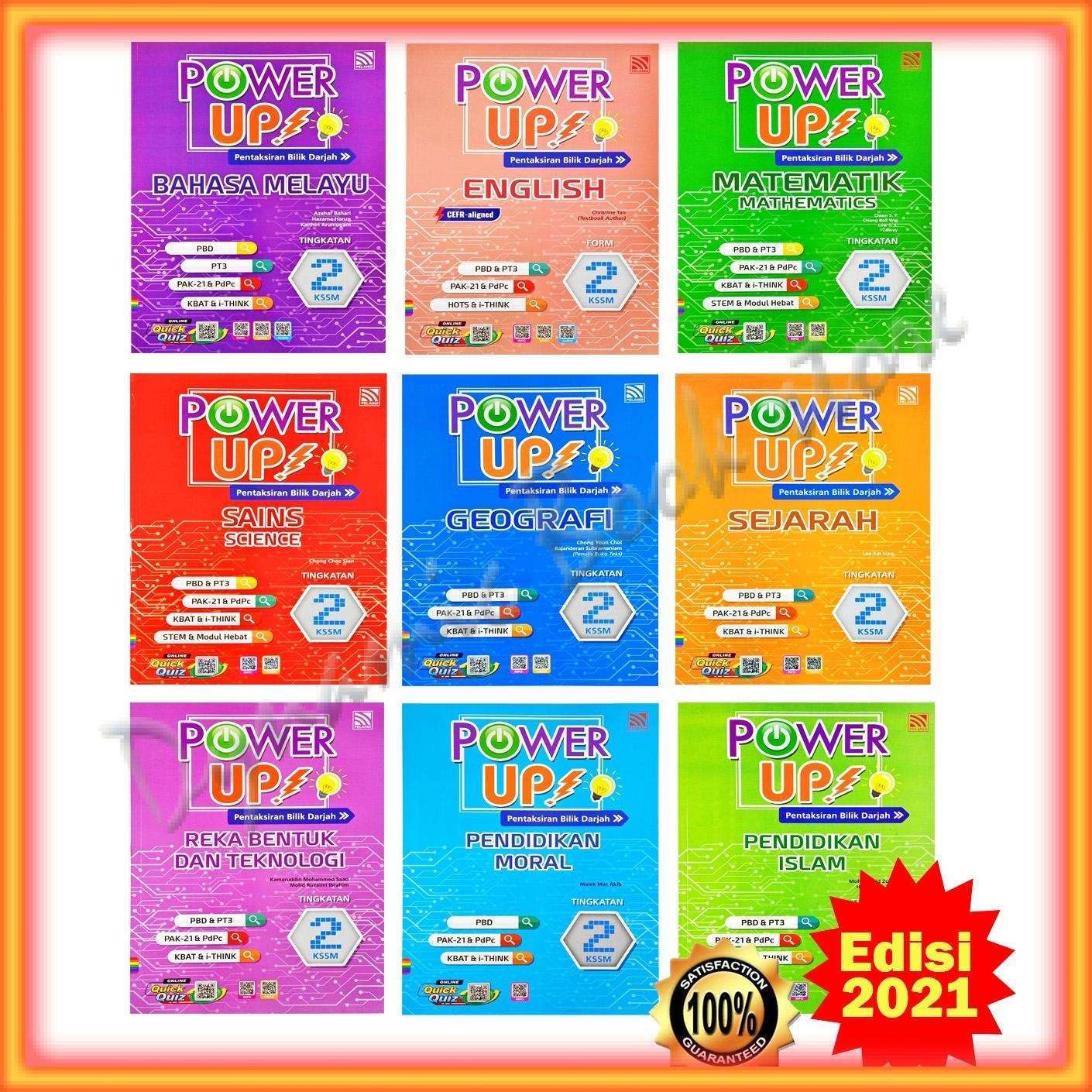 Buku Latihan : Power Up! Edisi 2021 Tingkatan 2 - Bahasa ...