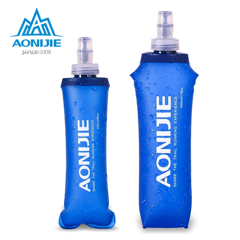 Sports Plastic Soft Water Bag Foldable Cross Country Running 250 500ml