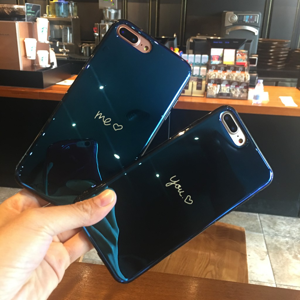 aad37a621b663e ProductImage. ProductImage. Mirror Blue light Soft Cover Casing for iPhone  6 6s 7 8 Plus iPhone X