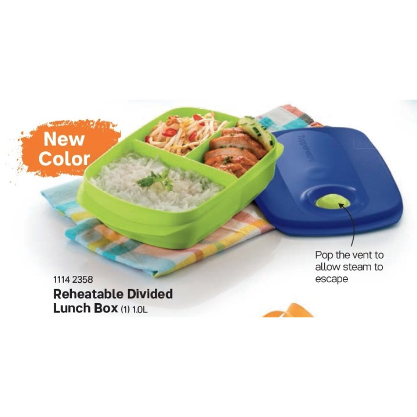 [MICROWAVE SAFE] Tupperware Reheatable Divided Lunch Box (1) 1L / 1.0L