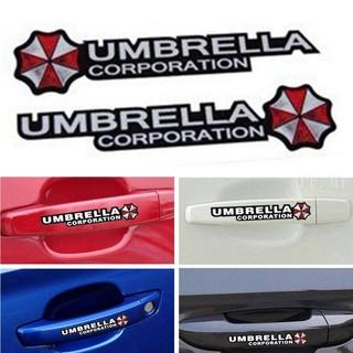 4pcs Resident Evil Umbrella Corporation Sticker For Door Han