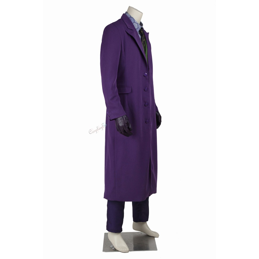 New Batman Dark Knight Joker Necktie Silk Tie Costume Halloween Cosplay