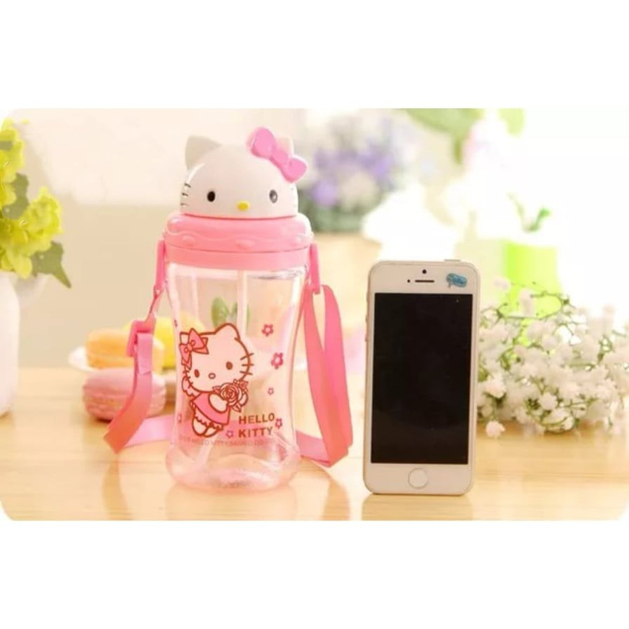 [ READY STOCK ]  400ML Cute Cartoon Children Cup Bottle Kitchen Hello Kitty Jualan Murah Kid Baby Air Water Dispenser