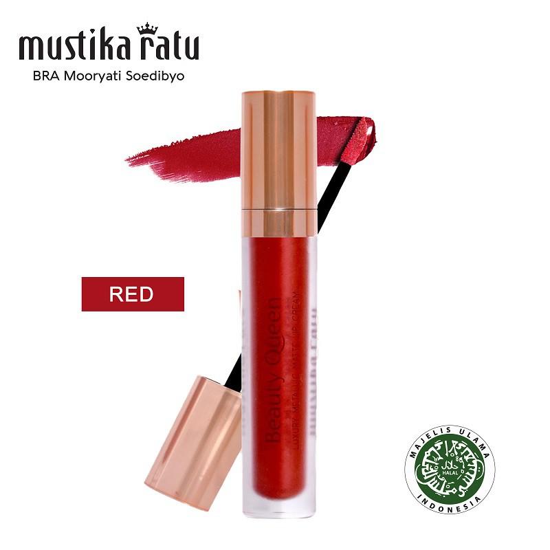 Mustika Ratu Beauty Queen Luxury Metallic Matte Lip Cream - Red