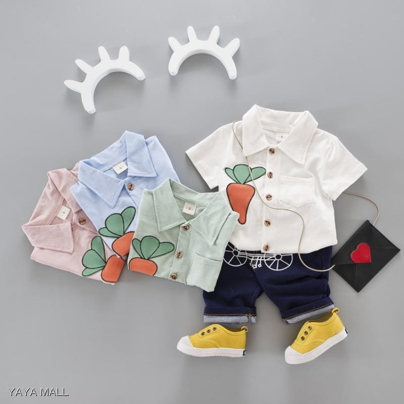 06d7d45c16f44 Baby Boy Cartoon Summer New Style Cotton Short Sleeve T-shirt+pants 2pcs Set