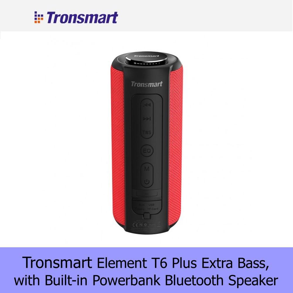 Tronsmart Element T6 Plus Upgrade Edition SoundPulse™ Portable Bluetooth Speaker with Deep Bass & NFC