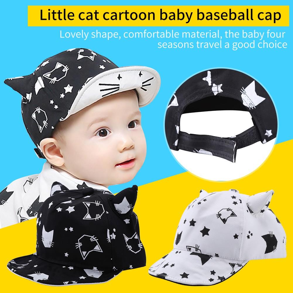 7d7e44d474f Cotton Toddler Kids Sun Cap Four Seasons Cartoon Baby Girls Boys Beach Hat