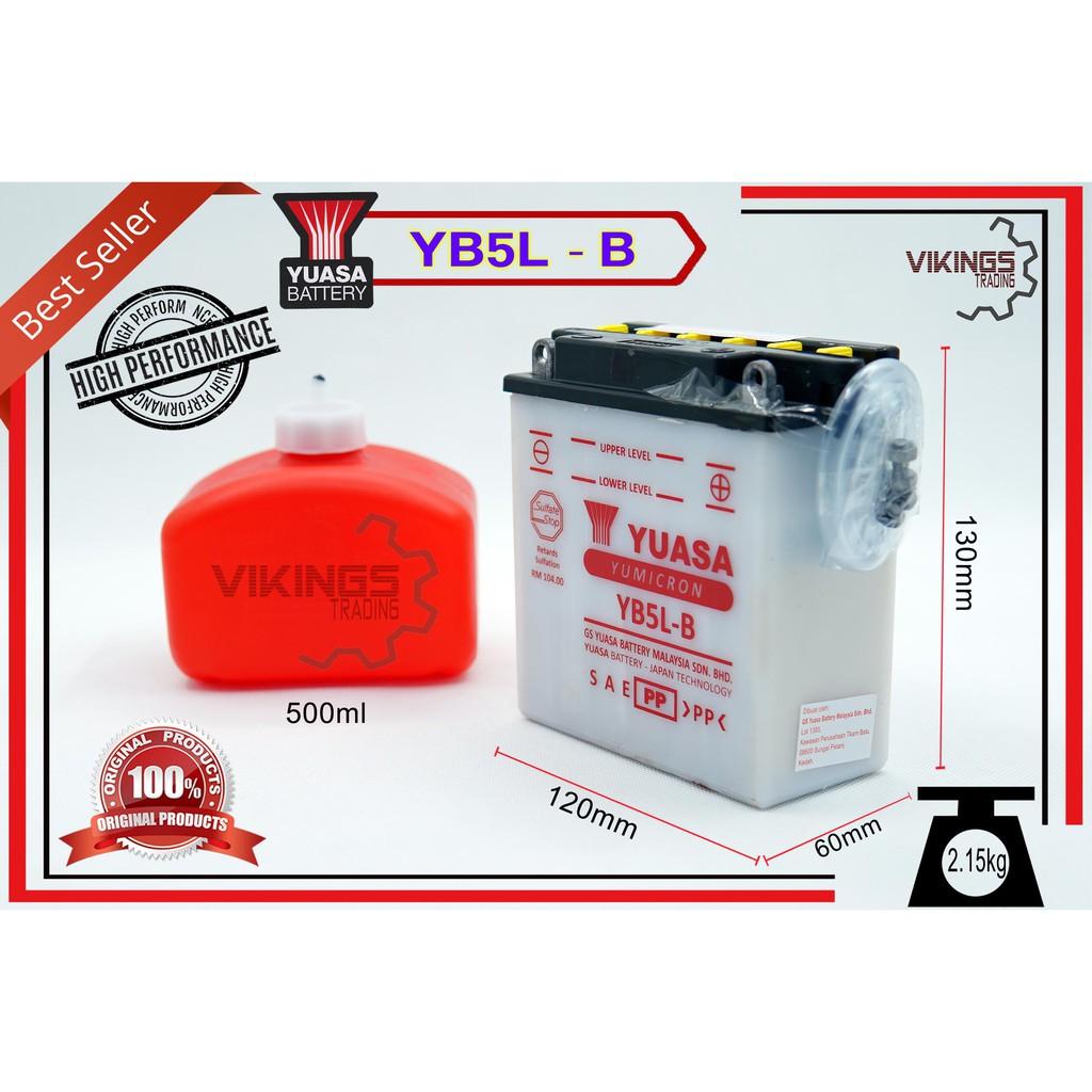 YB5 YB5L YB5LBS YUASA BATTERY LC135 V1 EX5 STATER KRISS STATER NOUVO NOUVO S MR1 CT100 LAGENDA SRL110 SRX105-E EGO